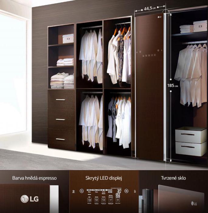 Паровой шкаф для одежды LG