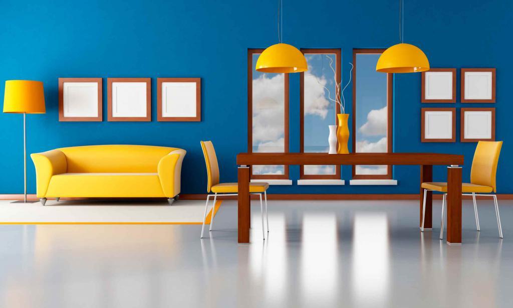 С каким цветом сочетается желтый кухня
