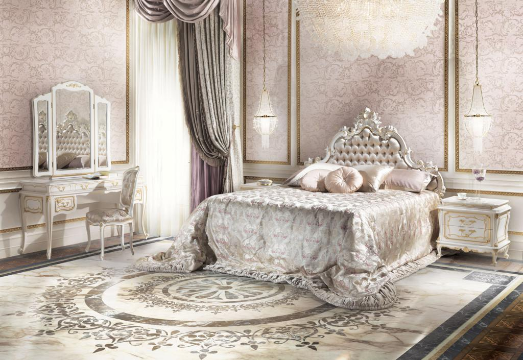 Baroque bedroom interior