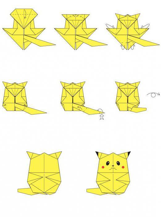 Как сделать пикачу оригами из бумаги