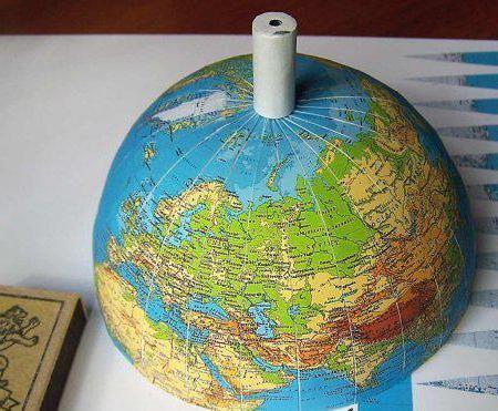 Глобус из бумаги своими руками