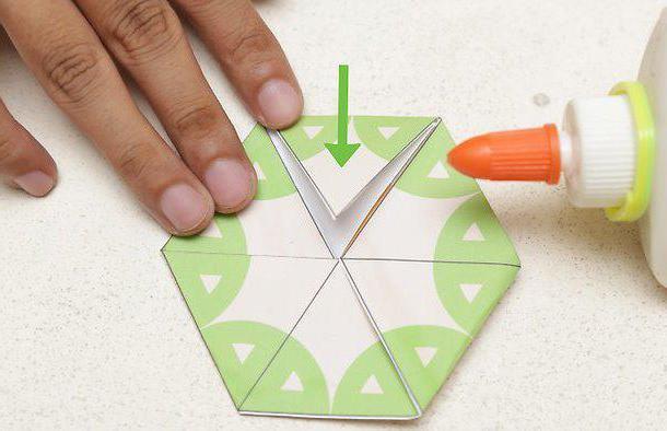 как сделать флексагон из бумаги схемы