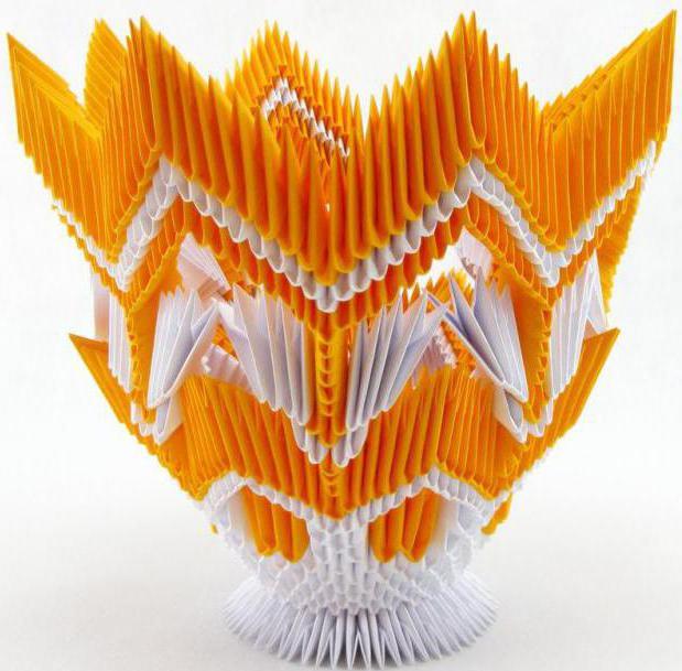 модульное оригами вазы. схемы сборки