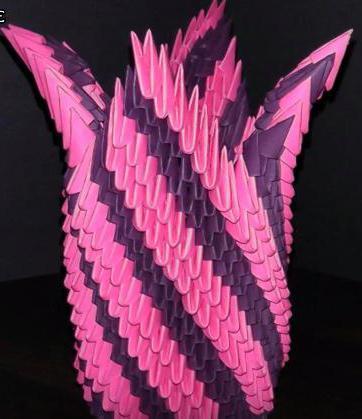 Модульное оригами. Схема большой вазы