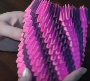 Модульное оригами. ваза. схема