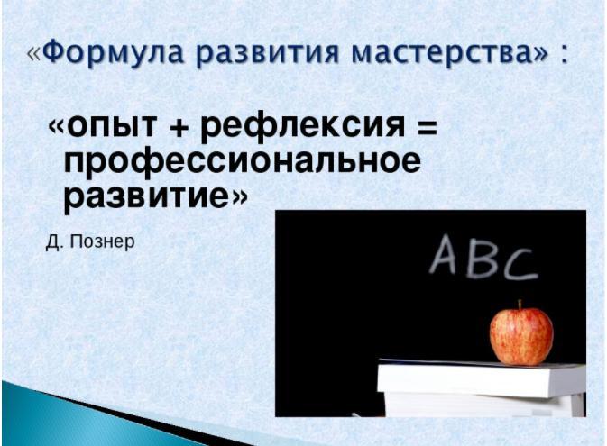 профессиональное развитие педагога