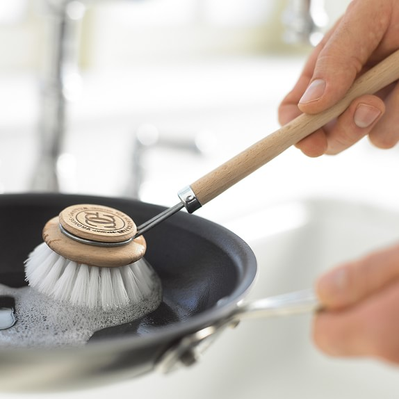 clean the pig-iron pan from soot at home