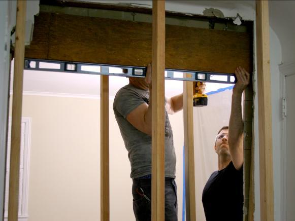 enlarging the doorway in the load-bearing wall