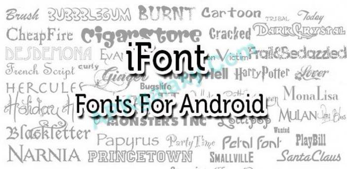как изменить шрифт на андроиде