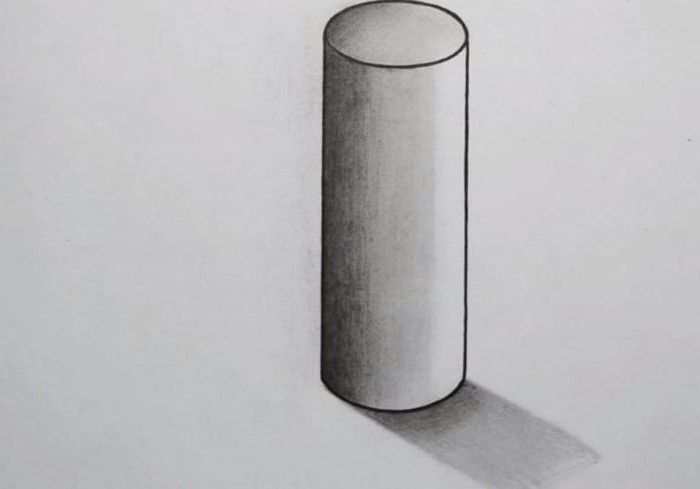 How to draw a cylinder in pencil with a shadow gradually? Step by step instructions and recommendations