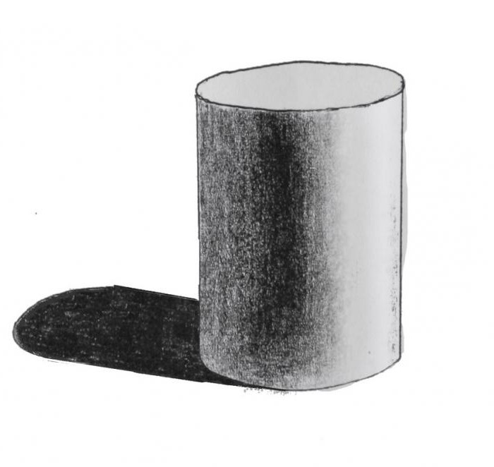 нарисовать цилиндр карандашом