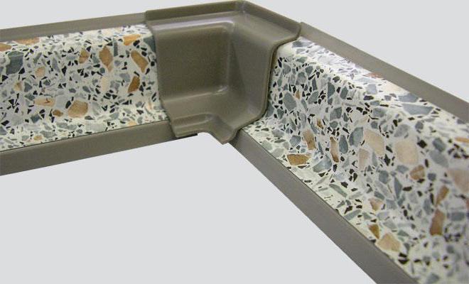 плинтус кухонный пластиковый для столешниц