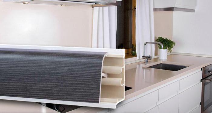как установить плинтус на кухонную столешницу