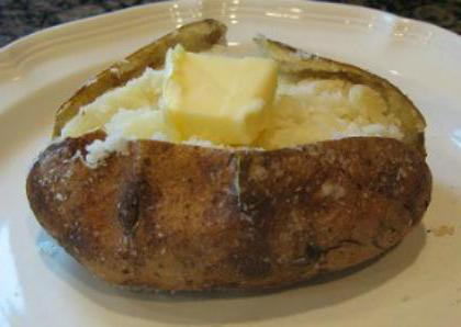 печеный картофель в микроволновке калорийность