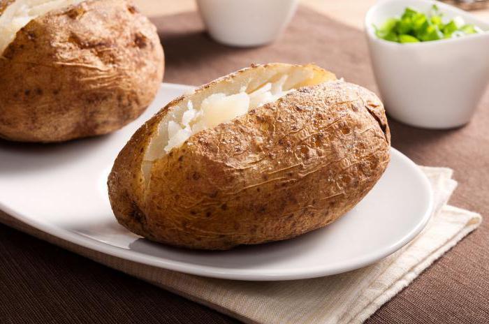 калорийность печеного картофеля в духовке