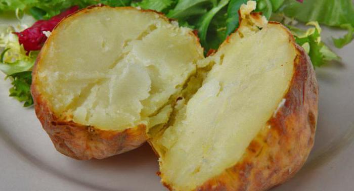 печеный картофель калорийность