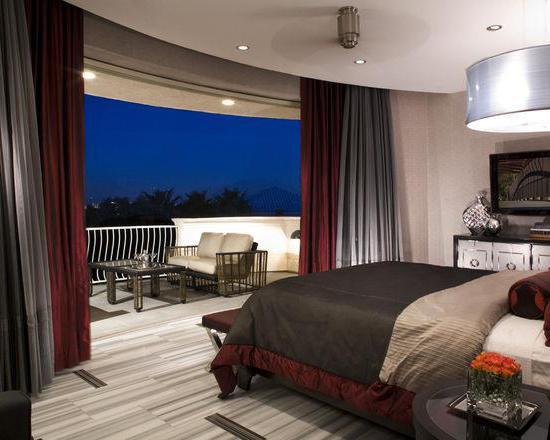 дизайн спальни гостиной 18 кв с балконом