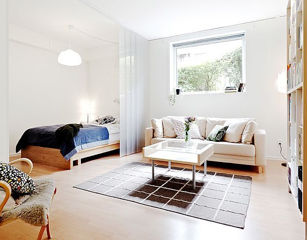 Bedroom with living room