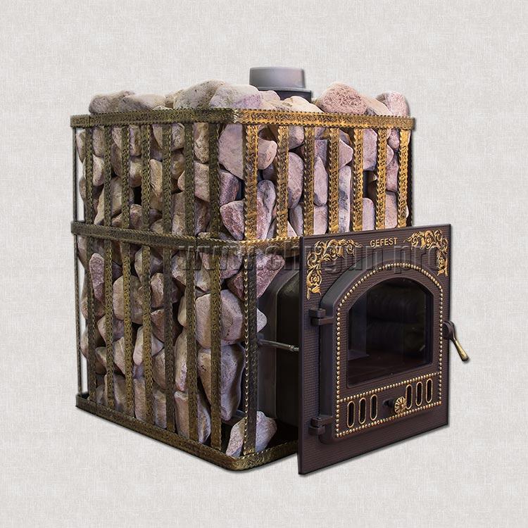 Печь с каменкой