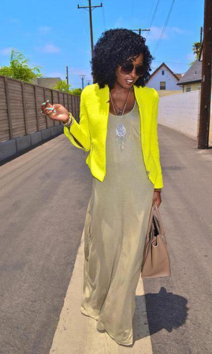 желтый жакет с чем носить
