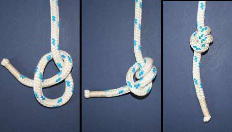 завязать узел на завязанной веревке
