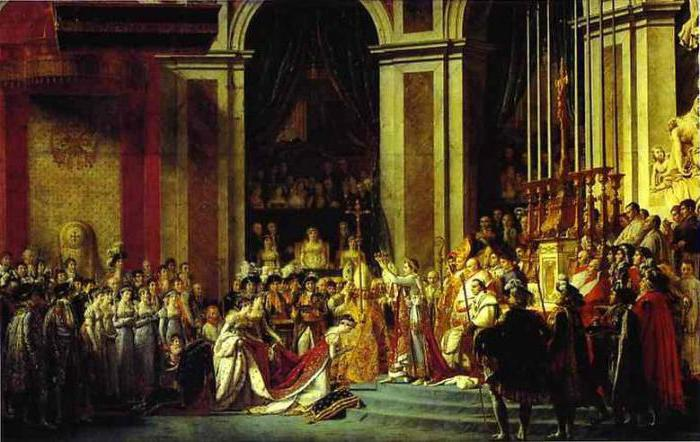 """The coronation of Napoleon"": the analysis of the paintings of David"