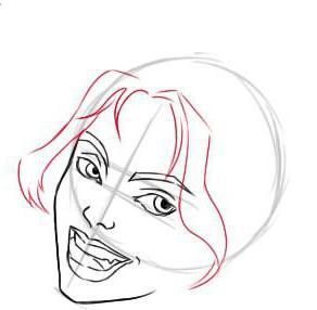 как нарисовать Харли Квинн поэтапно карандашом