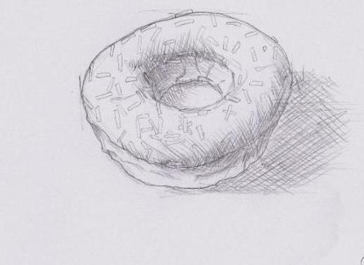 как нарисовать пончик по клеточкам