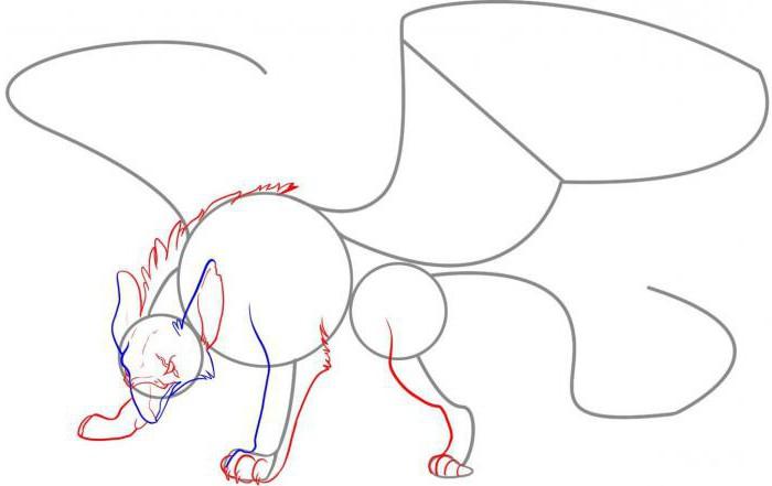 как нарисовать грифона