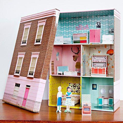 как сделать дом книгу для кукол