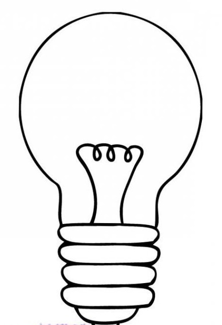 How to draw a light bulb quickly and easily