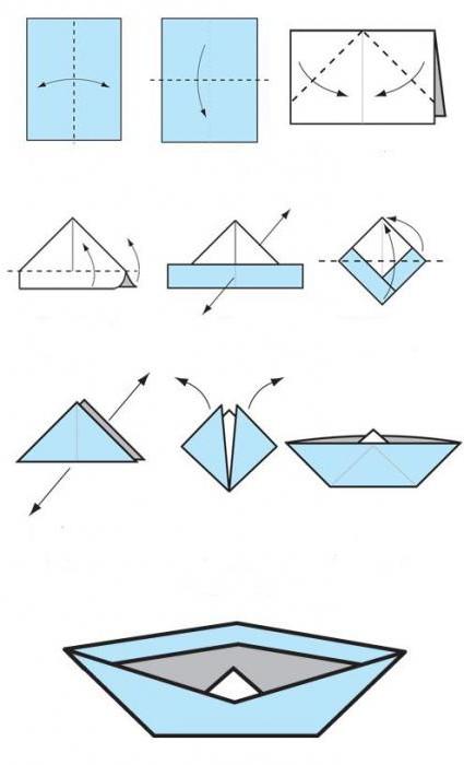 лодка плоскодонка оригами