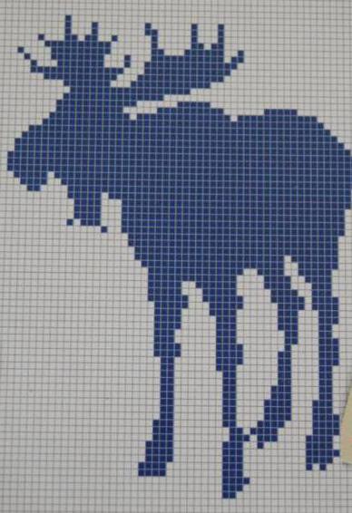 связать свитер с оленями