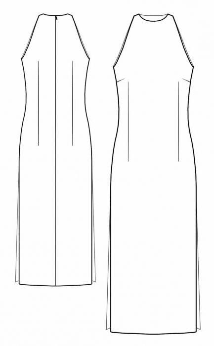 выкройка платья без рукавов