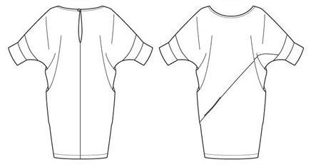 как раскроить платье с цельнокроеным рукавом
