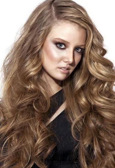 окрашивание кончиков русых волос