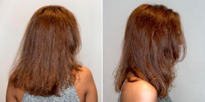 Ботокс волос для блондинок до и после