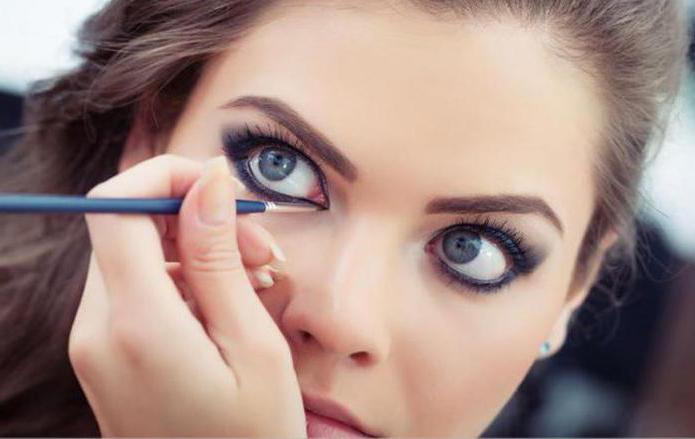 Макияж для серых круглых глаз с