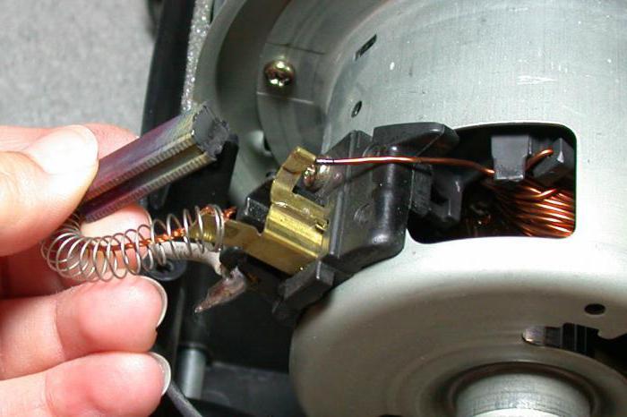 замена щеток электродвигателя