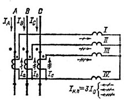 схема соединения трансформатора в полную звезду