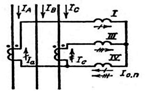 схема соединения трансформатора в неполную звезду