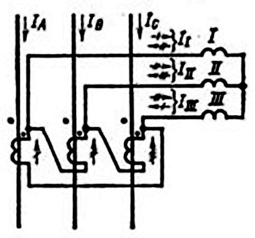 схема соединения трансформатора в треугольник