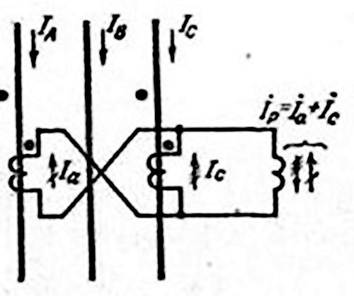 схема соединения трансформатора на разность токов