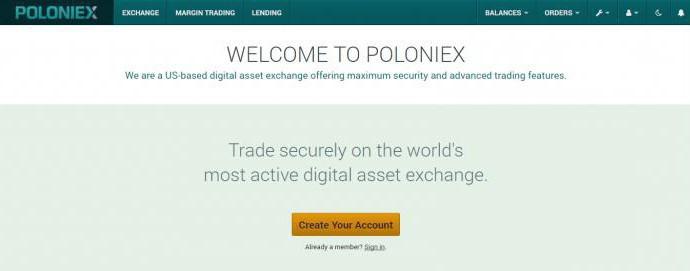биржа криптовалют poloniex на русском