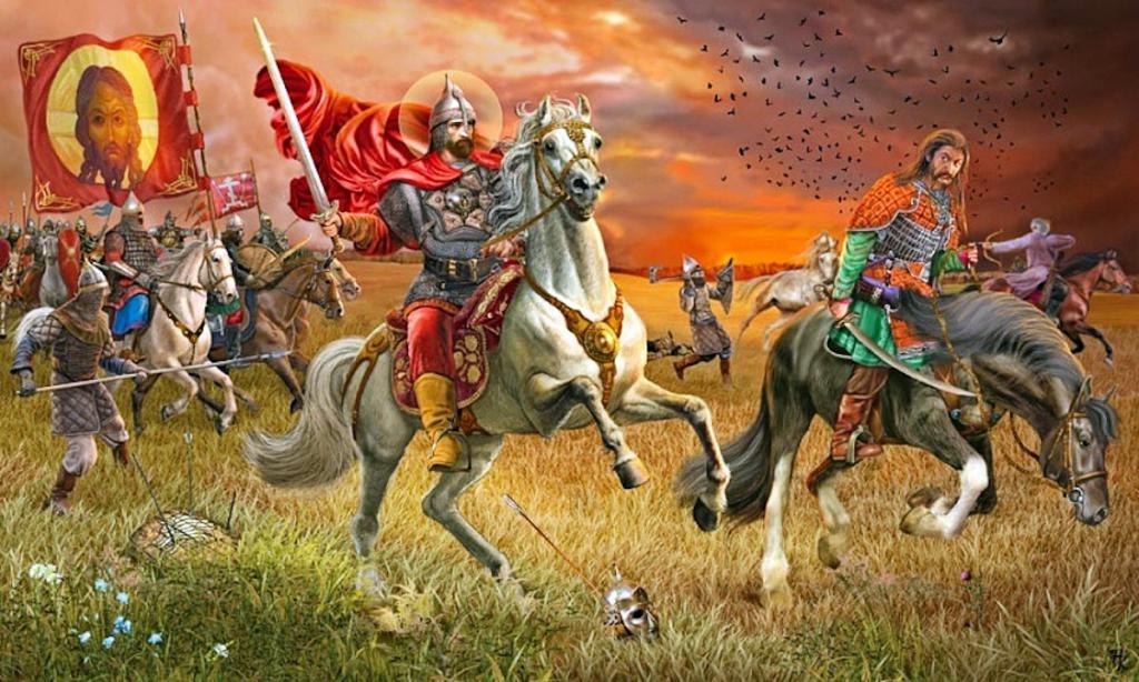 Картинки битвы на поле куликовом