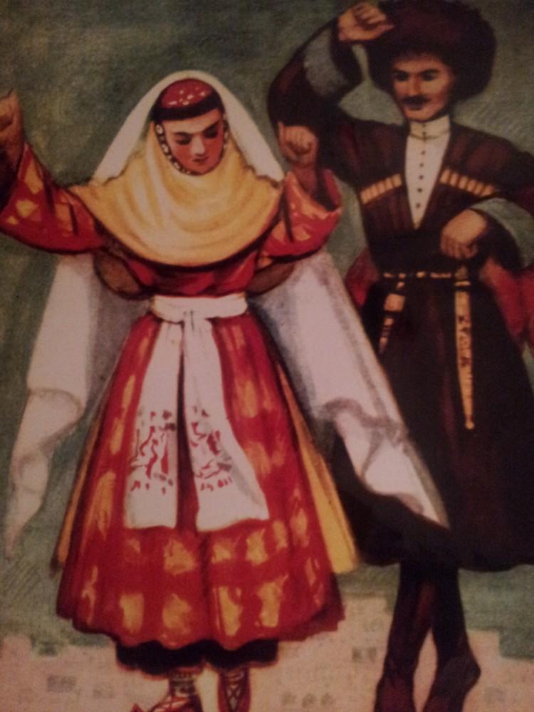 пользовался даргинский национальный костюм фото мужской и женский артистки