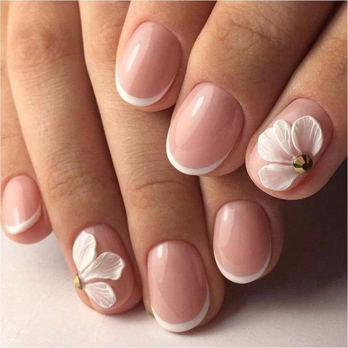 Дизайн ногтей на короткие ногти фото френч