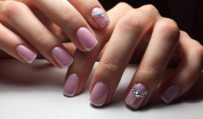 дизайн коротких ногтей гель френч