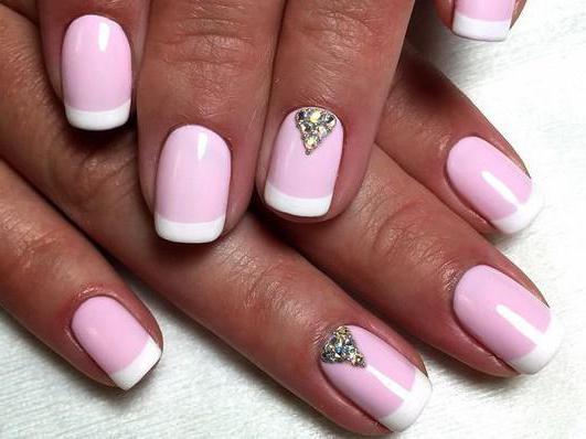 дизайн ногтей на короткие ногти френч
