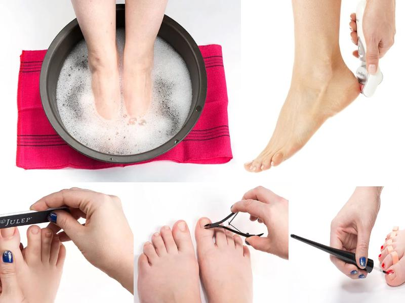 Stages of pedicure